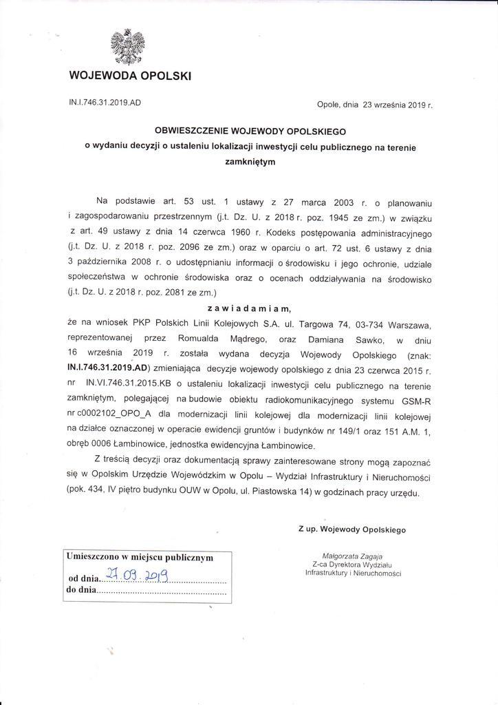 obwieszczenie Wojewody Opolskiego o zakończeniu postępowania.jpeg